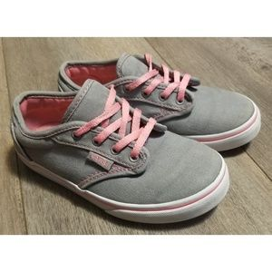 Kids Atwood Low Sneakers Pink Gray size 11.5